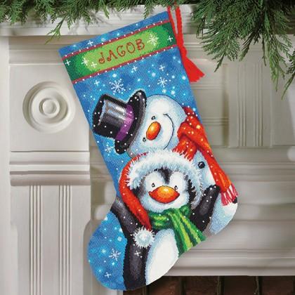 Dimensions Christmas Stocking Kits.Polar Pals Stocking