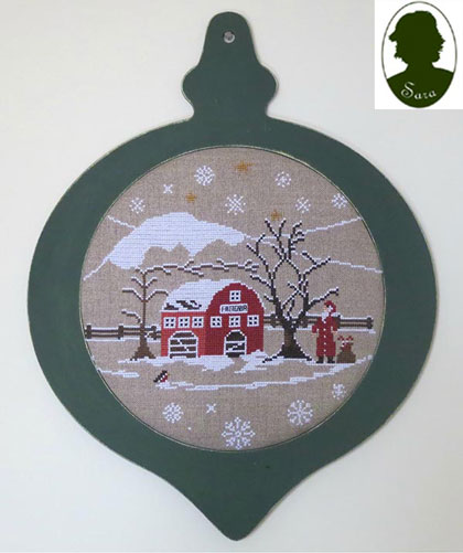 boule de neige 1 from sara guermani cross stitch charts embroidery casa. Black Bedroom Furniture Sets. Home Design Ideas
