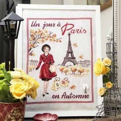 Un Jour 224 Paris En Automne Linen From Les Brodeuses
