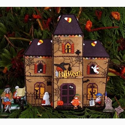 Gingerbread Haunted House From Victoria Sampler Cross