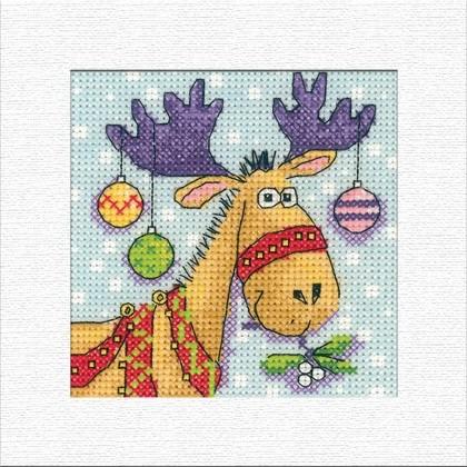 Reindeer christmas card from heritage stitchcraft other for Reindeer christmas card craft
