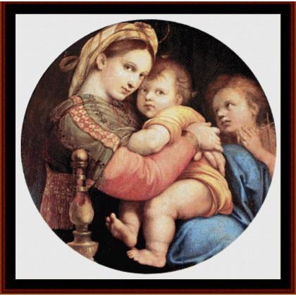 Raffaello - Madonna della Seggiola From Cross Stitch Collectibles ...