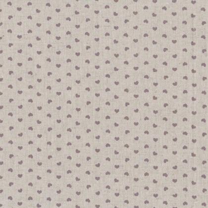 Shabby chic lavender hearts 50x150cm da stof for Stoffe arredamento