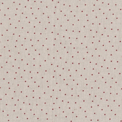 shabby chic red dots on natural 50x150cm da stof. Black Bedroom Furniture Sets. Home Design Ideas
