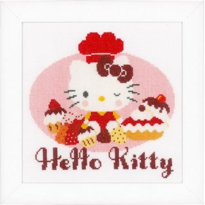 Hello kitty cooks from vervaco children cross stitch - Casa hello kitty ...
