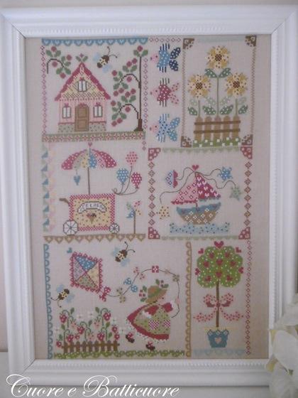 Summer In Quilt From Cuore E Batticuore Cross Stitch