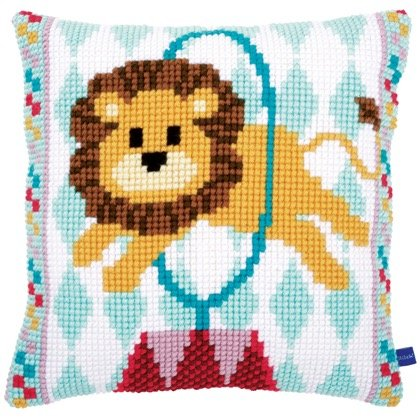 Vervaco Circus Elephant Cross Stitch Cushion Front Kit PN-0153878
