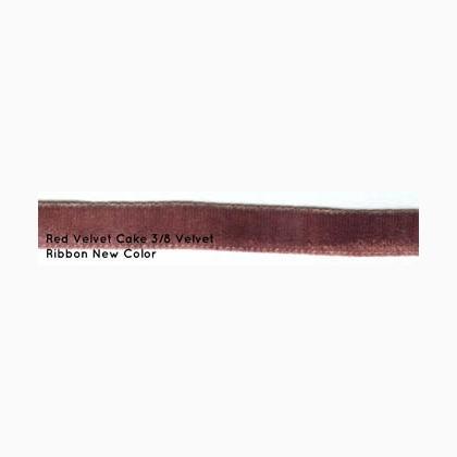 Red Velvet Cake 3 8 Quot Velvet Ribbon 3 Yards From Dames Of