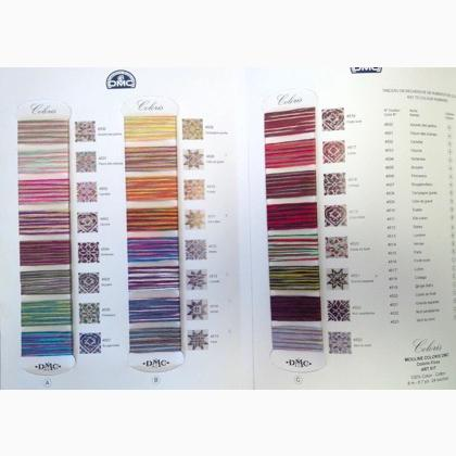 Dmc Coloris Floss Chart From Dmc Color Cards Catalogs