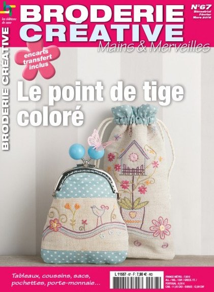 Broderie cr ative 67 le point de tige color from les - Edition de saxe ...