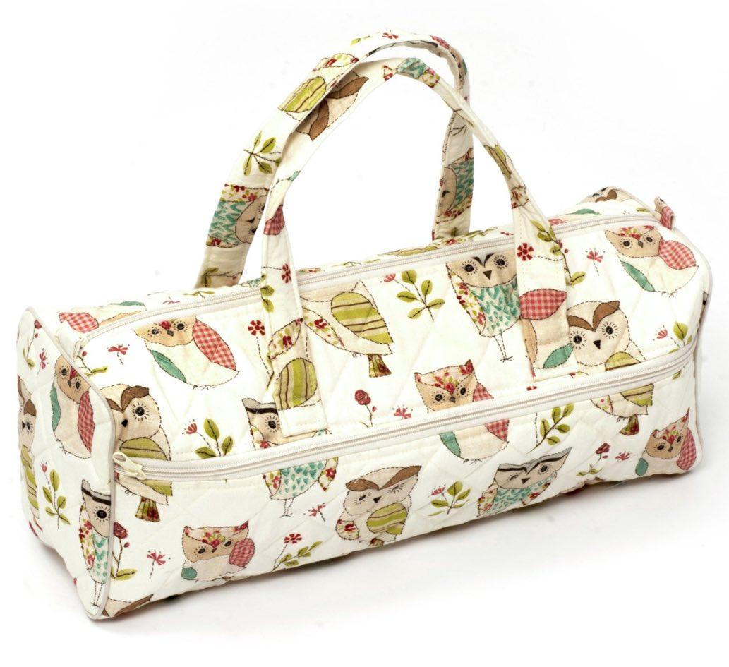 Owl Bag Knitting Pattern : Knitting Bag Owl (white) From Hobby Gift - Haberdashery & Necessities - E...
