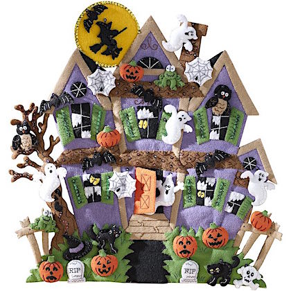 Haunted House Felt Applique Wall Hanging From Bucilla