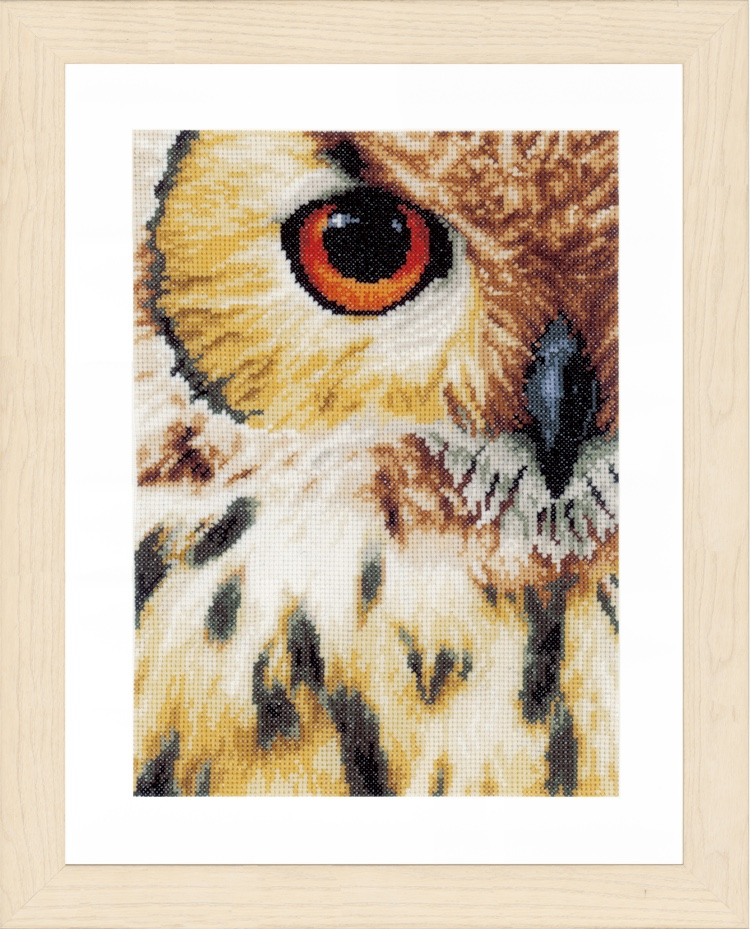 Owl From Lanarte Animal Collection Cross Stitch Kits