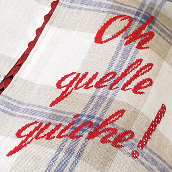 porte tarte oh quelle quiche linen from les brodeuses parisiennes les brodeuses. Black Bedroom Furniture Sets. Home Design Ideas