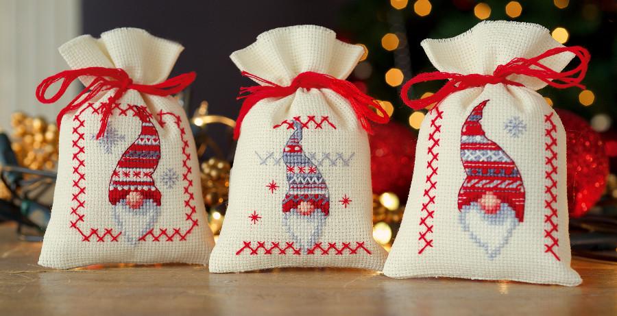Potpourri Bags Christmas Gnomes From Vervaco Christmas Cross Stitch Kits Kits Casa Cenina