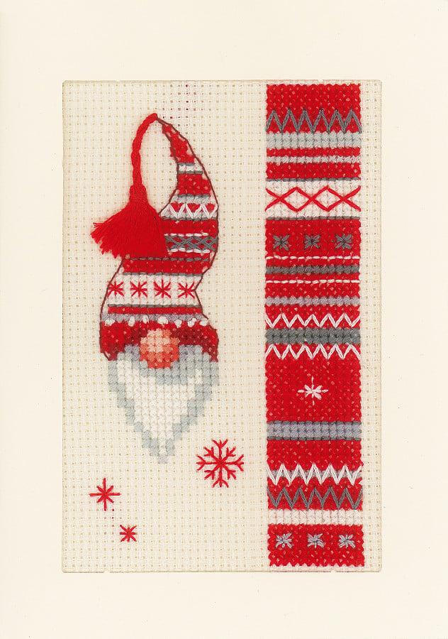 Cards christmas elf from vervaco christmas cross stitch kits cards christmas elf m4hsunfo