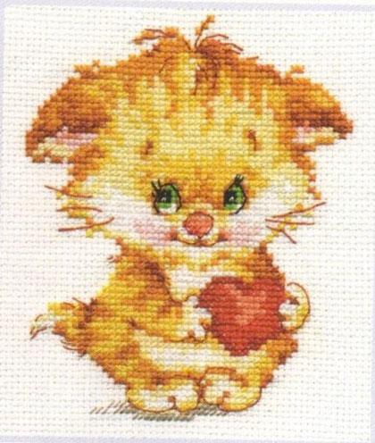 Little Kitten Alisa Cross Stitch Kit