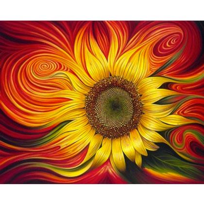 Burning Sunflower From Artibalta Diamond Painting Kits