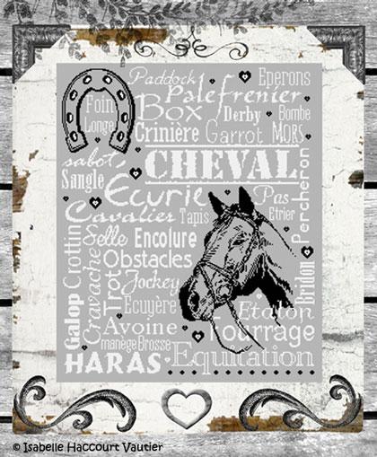 Cheval mon Ami de Isabelle Vautier - Grilles Point de Croix - Broderie - Casa Cenina