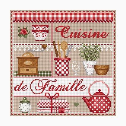 Mini Cuisine de Famille de Madame La Fée - Grilles Point de Croix - Grilles Point de Croix ...