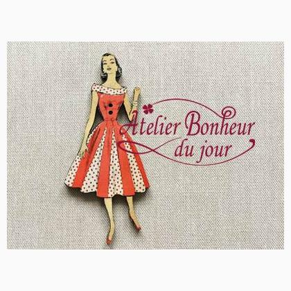 dame robe pois rouges from petit bonheur du jour petit. Black Bedroom Furniture Sets. Home Design Ideas