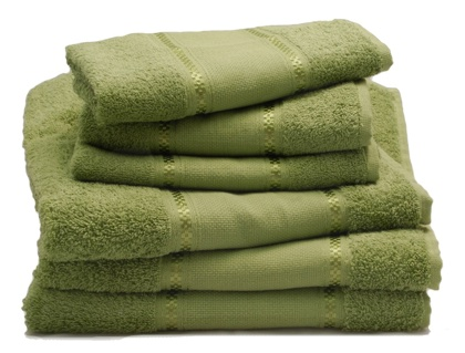 Couple Of Bath Towels Thyme From Grigoletto Filati