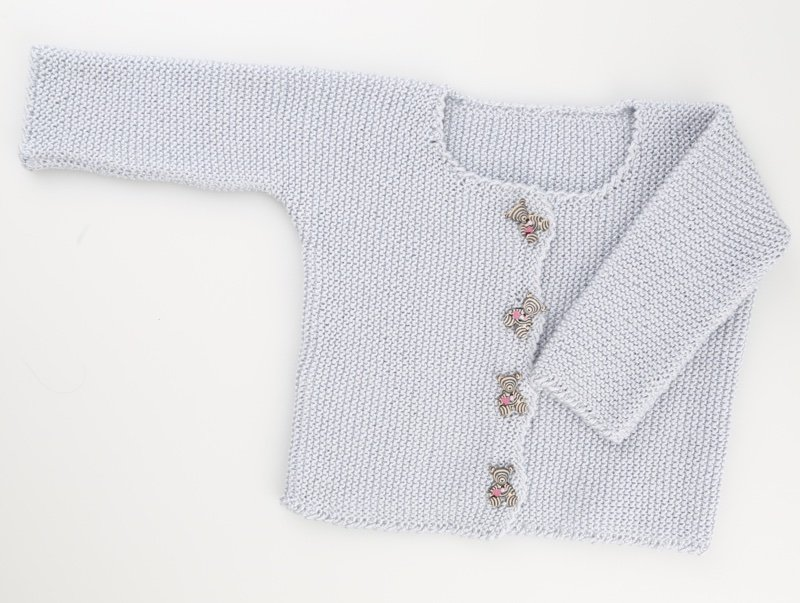 1275c91cc Baby Cardigan - Light Blue From Go Handmade - Baby Collection - Kits ...