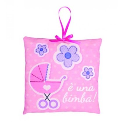 Baby carriage birth decoration pink from dmc kids for Baby carriage decoration