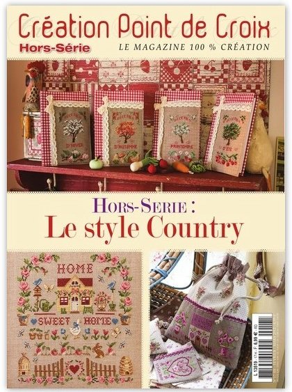 Magazine Création Point de Croix - Le style Country From Cesar Editions - Books and Magazines ...