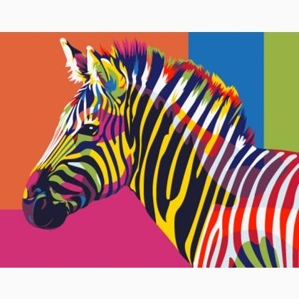 Rainbow Zebra Mini From Artventura Paint By Numbers