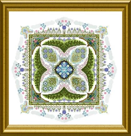 Summer knotgarden de martina rosenberg grilles point de for Knot garden design ideas