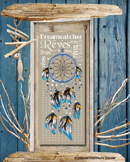 Dreamcatcher From Isabelle Vautier Cross Stitch Charts Cross Delectable Dream Catcher Point
