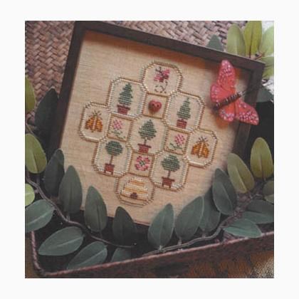 Bees & Trees (w/heart button) From Annalee Waite Designs - Cross ...