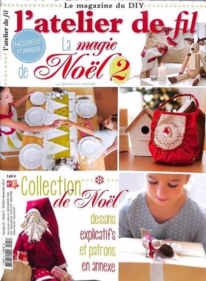 Atelier De Noel L'atelier de Fil N° 25   La magie de Noël 2 From Lumina Edizioni