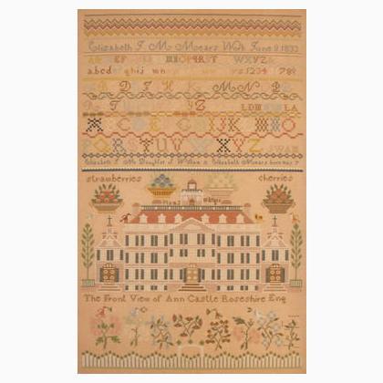 Elizabeth J M Mears 1833 Reproduction Queenstown Sampler Cross Stitch Pattern