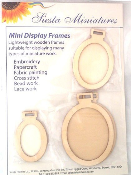 Miniature Ovals Frames From Siesta Frames - Hoops and Frames ...