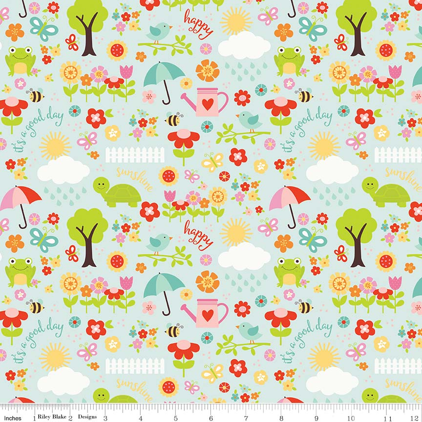 Bloom Where You\'re Planted - Aqua Bloom April Showers 45x110cm. From ...
