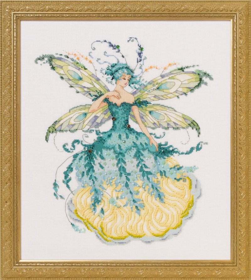 """SALE COMPLETE XSTITCH MATERIALS /""""CATHEDRAL WOODS GODDESS  MD164/"""" by Mirabilia"""