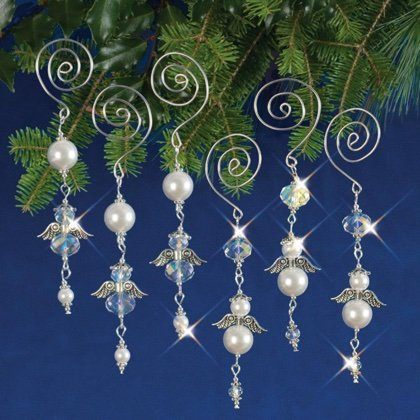 Holiday Beaded Ornament Kit Dangling Angels