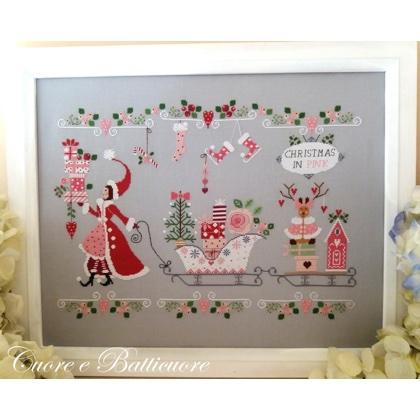 Cross Stitch Charts Natale In Rosa