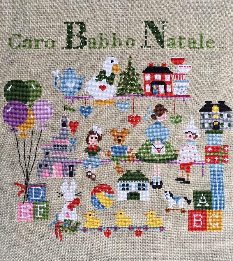 Caro Babbo Natale From Lilli Violette Cross Stitch