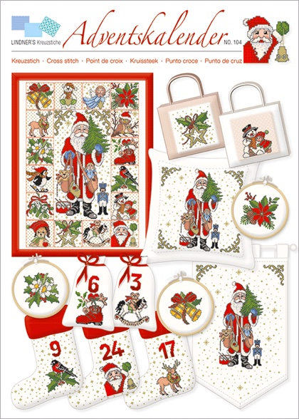 Lindner´s Kreuzstich Advent No 15 Advent
