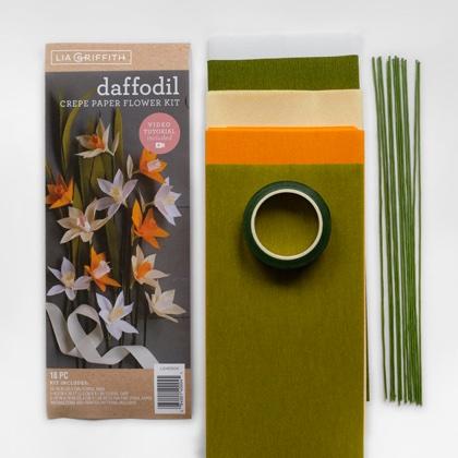 Crepe Paper Daffodil Flower Kit