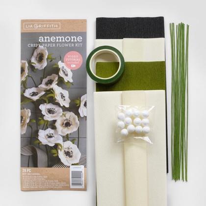 Crepe Paper Flower Anemone Kit