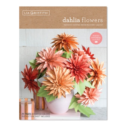 Dahlias Frosted Paper Flower Kit