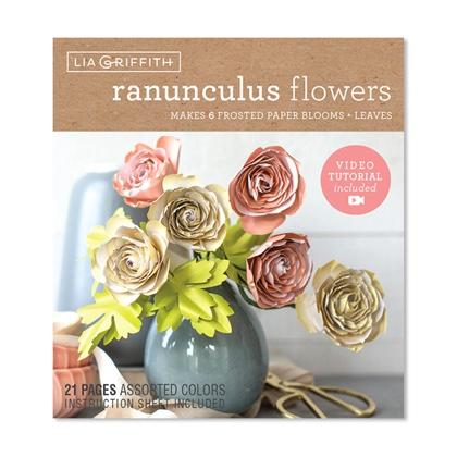 Ranunculus Frosted Paper Flower Kit