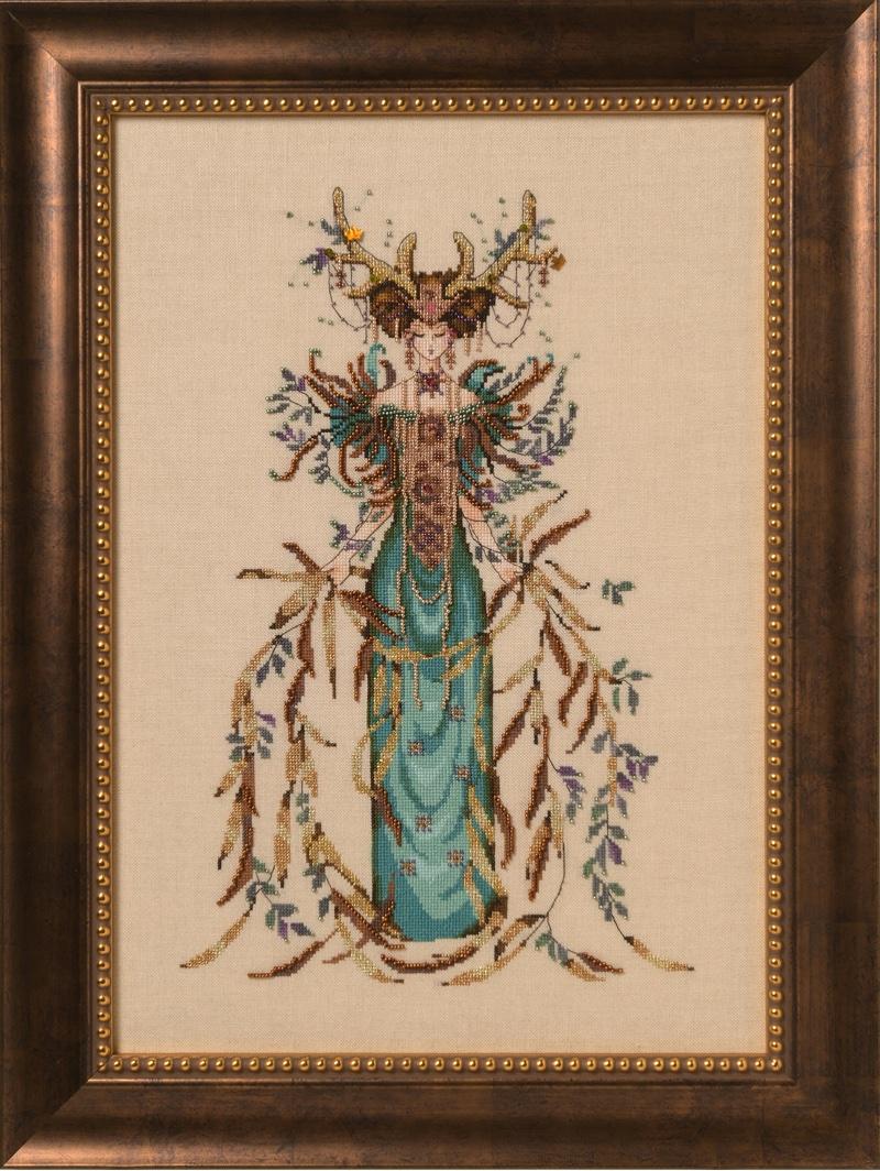 Mirabilia Nora Corbett Cross Stitch Chart Lady Justice MD160