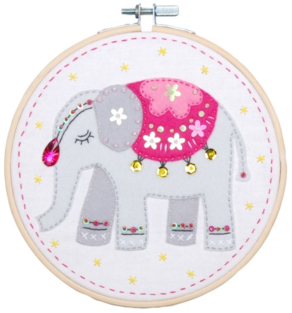 Children/'s Feutre Éléphant Animal Kit Couture