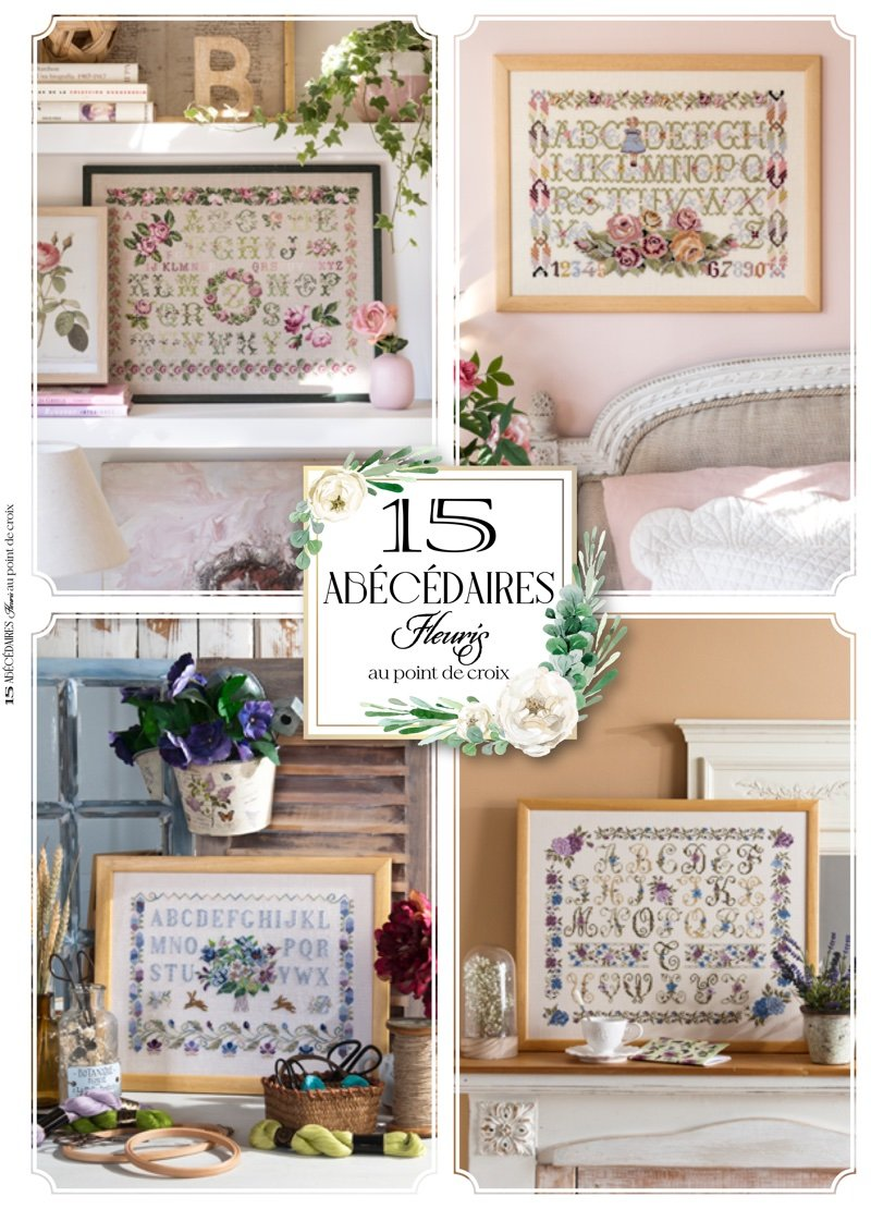 15 Abecedaires Fleuris Au Point De Croix From Cesar Editions Books And Magazines Books And Magazines Casa Cenina