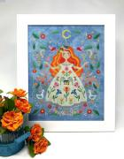 Night Walked Down Cross Stitch Chart by The Blue Flower